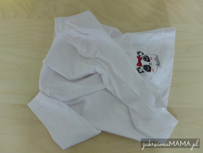 Bluzka z pandą przed dodaniem zatrzasków