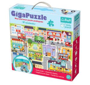 """Giga Puzzle """"W miasteczku"""" z serii little planet od Trefl"""