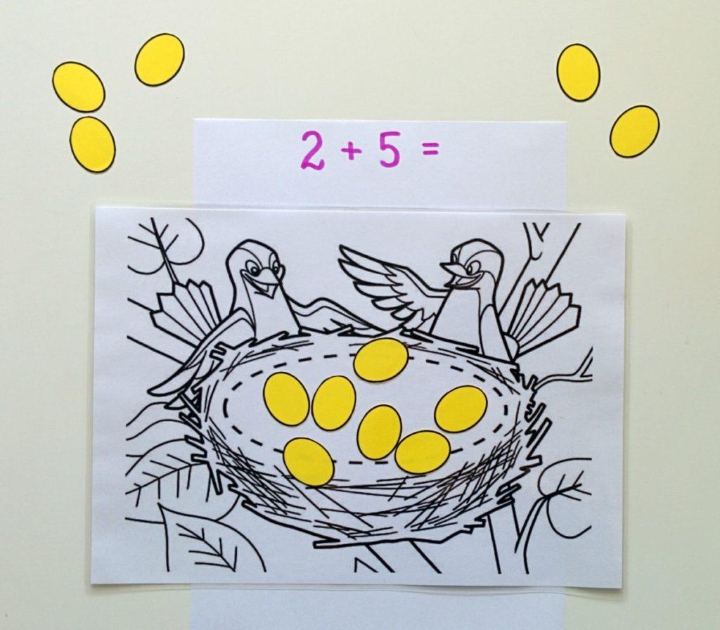 Ptaki - zabawa matematyczna