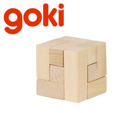 drewniana kostka układanka logiczna GOKI