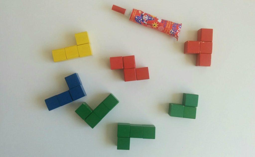 Drewniana kostka układanka logiczna - Krok 2