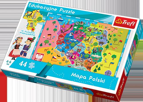 Puzzle mapa Polski Trefl