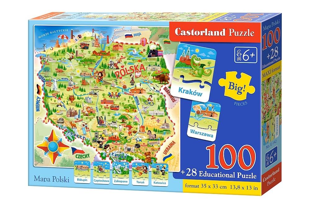 Puzzle mapa Polski Castorland