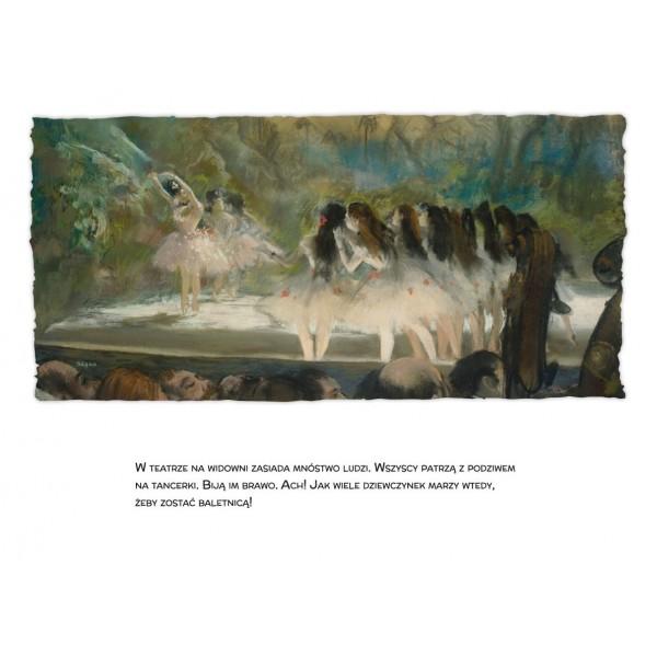 """Książka """"Baletnice"""" Agnieszka Starok Edgar Degas wyd. Tekturka seria Malarze Dzieciom"""