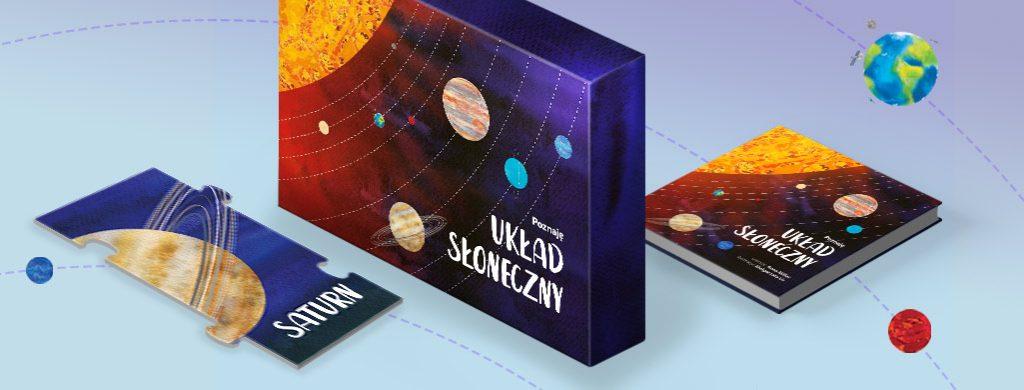 Zestaw kosmiczne puzzle i książka dla dzieci