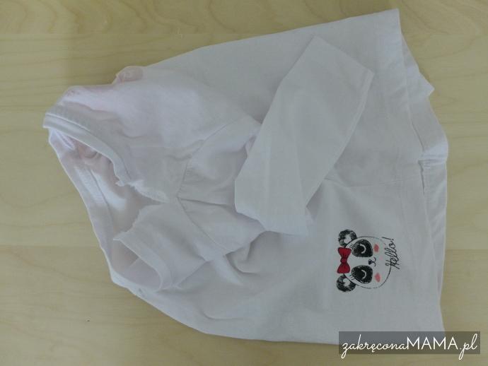 Bluzka z pandą rozpruta
