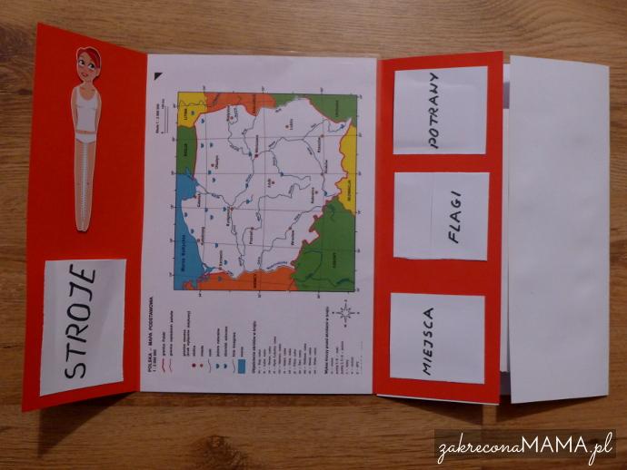 Lapbook Polska - mapa