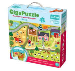 "Giga Puzzle ""Na wsi"" z serii little planet od Trefl"