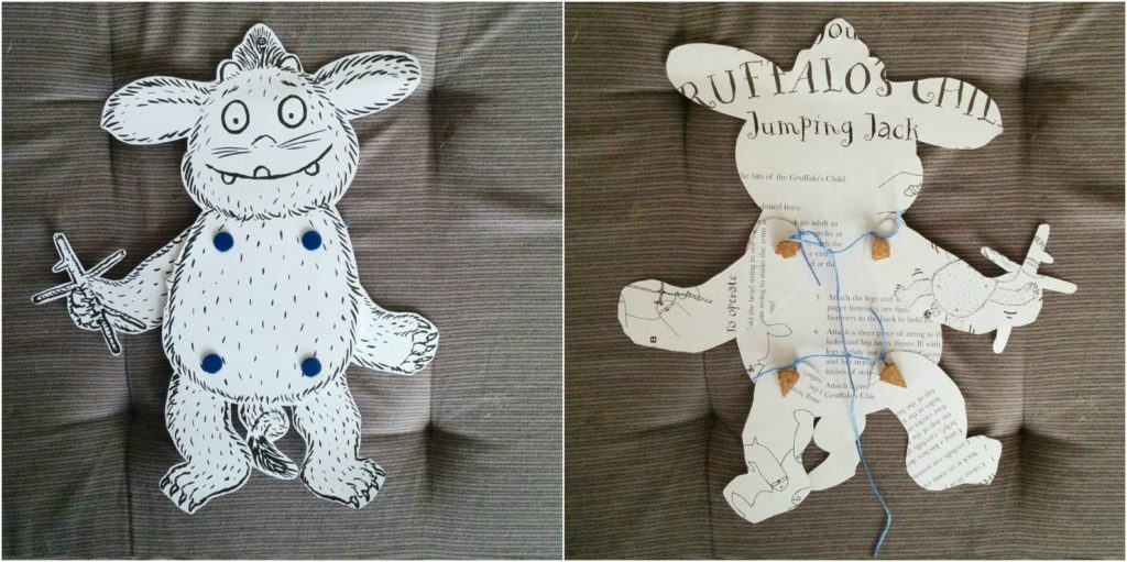 Pomysły na zabawy do książki Gruffalo marionetka