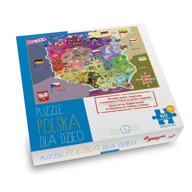 Puzzle mapa Polski Zuzu