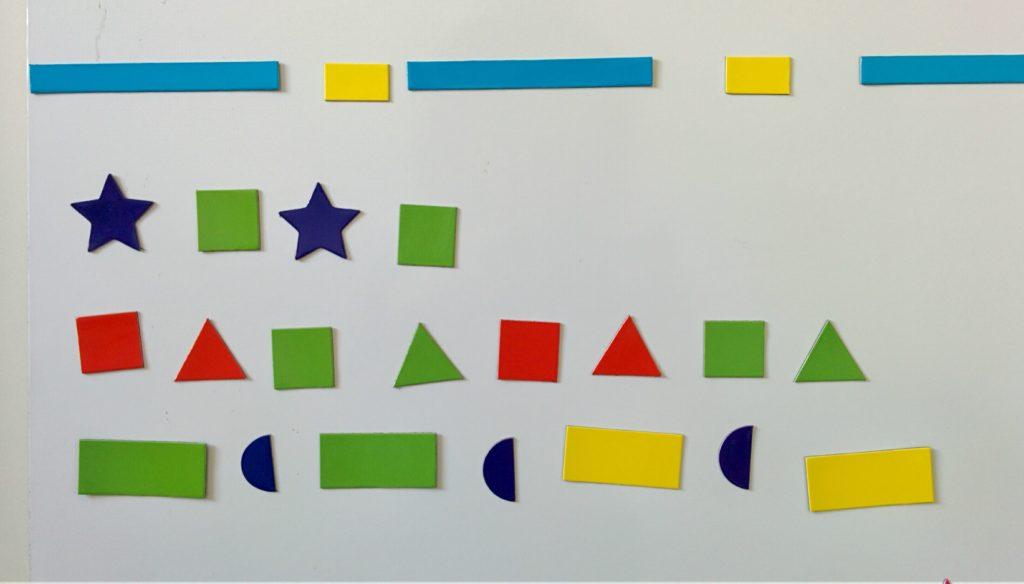 Magnetyczne kształty - układanie szeregów