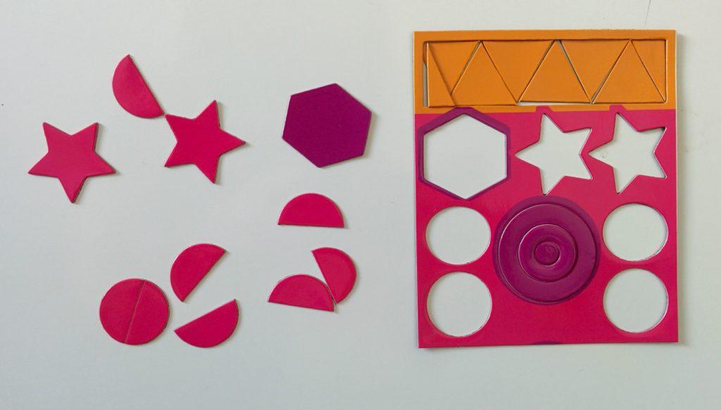 Magnetyczne kształty - uzupełnianie kształtów