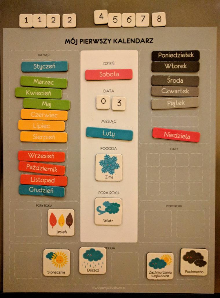 Kalendarze dla dzieci - Kalendarz magnetyczny