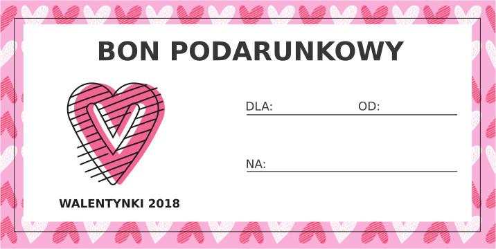 Walentynkowy bon podarunkowy - Serce