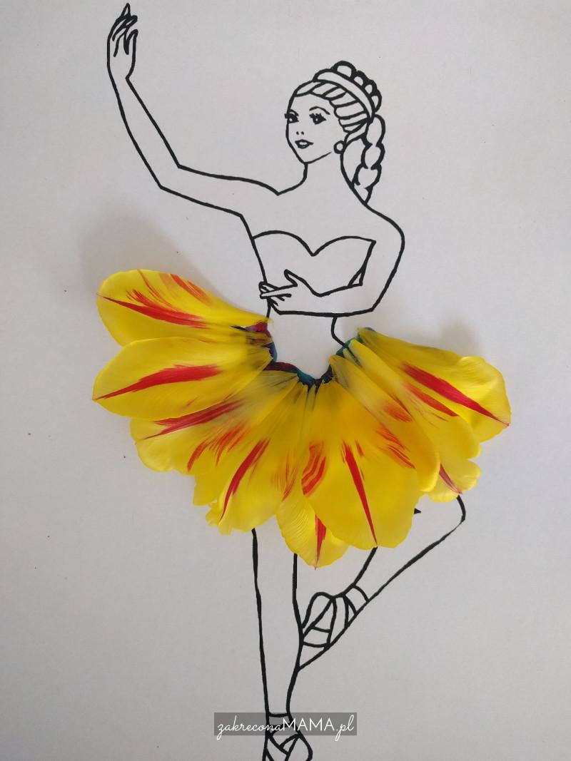 Baletnica w stroju z kwiatów w wykonaniu Ali